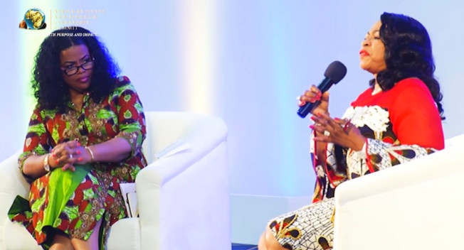 (L to R) Rosa Whitaker (USA) CEO, The Whitaker Group; Mrs Folorunso Alakija (Nigeria), acclaimed entrepreneur and philanthropist.